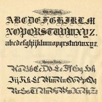 Typographic - Old English Alphabet