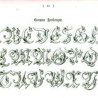 Typography - Alphabet - Ornamental, Renaissance, medieval  (40)