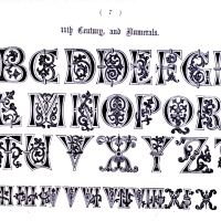 Typography - Alphabet - Ornate 11th Century