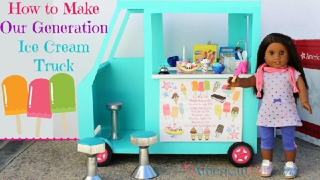 American Girl Doll Ice Cream Truck
