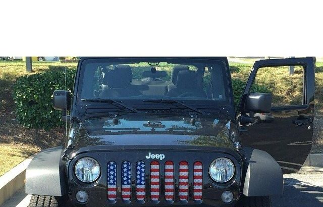 American Flag Jeep Grill
