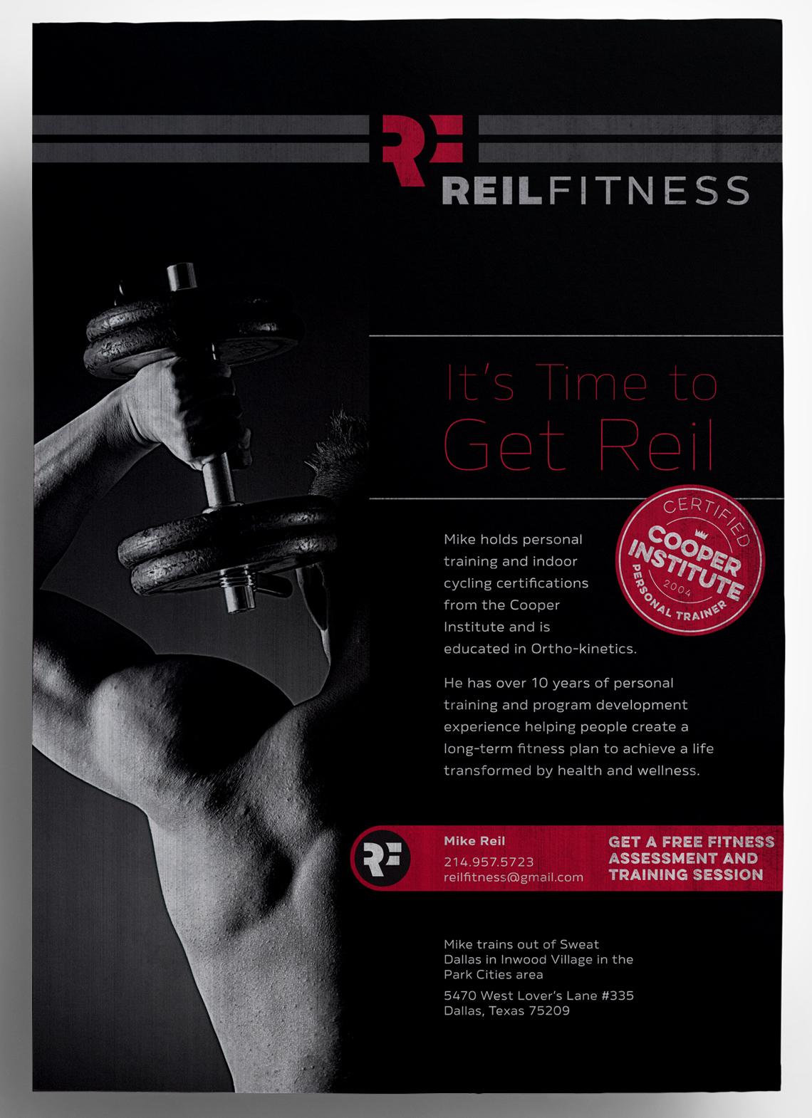 Reil Fitness Flyer Design   Typework Studio   NY Branding & Design ...