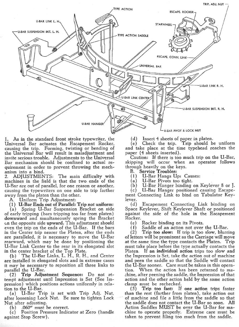 Noiseless Typewriters AMES OAMI Mechanical Training Manual