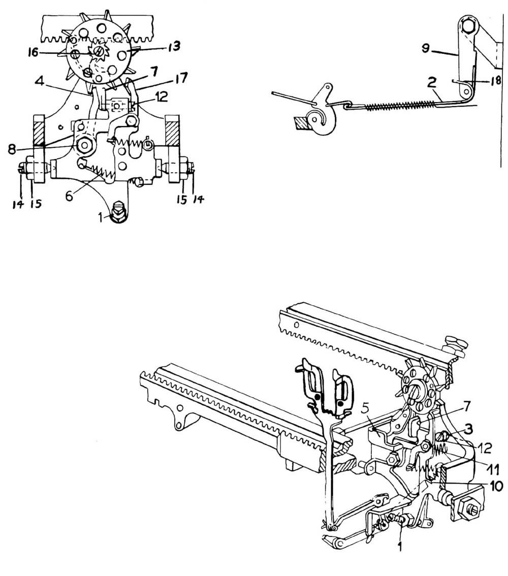 Manual Typewriter Parts Diagram Sketch Coloring Page