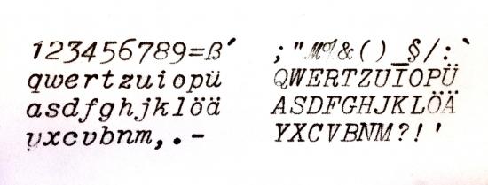 1938 Rheinmetall Portable on the Typewriter Database
