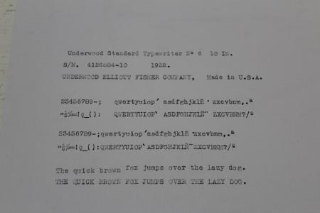1932 Underwood 6 on the Typewriter Database