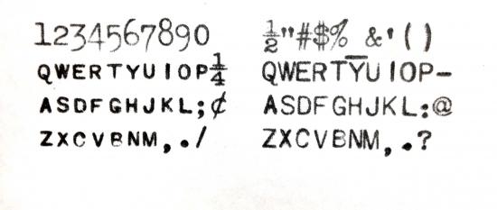 1927 Underwood Portable 4 Bank on the Typewriter Database