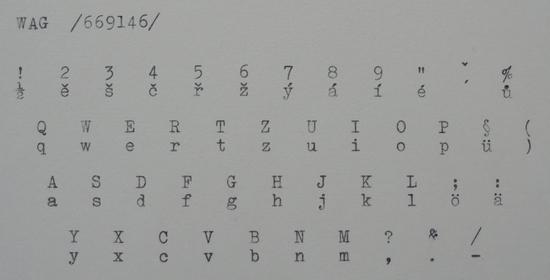 1938 WAG Standard on the Typewriter Database