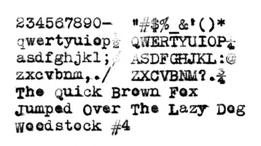 1916 Woodstock 4 on the Typewriter Database