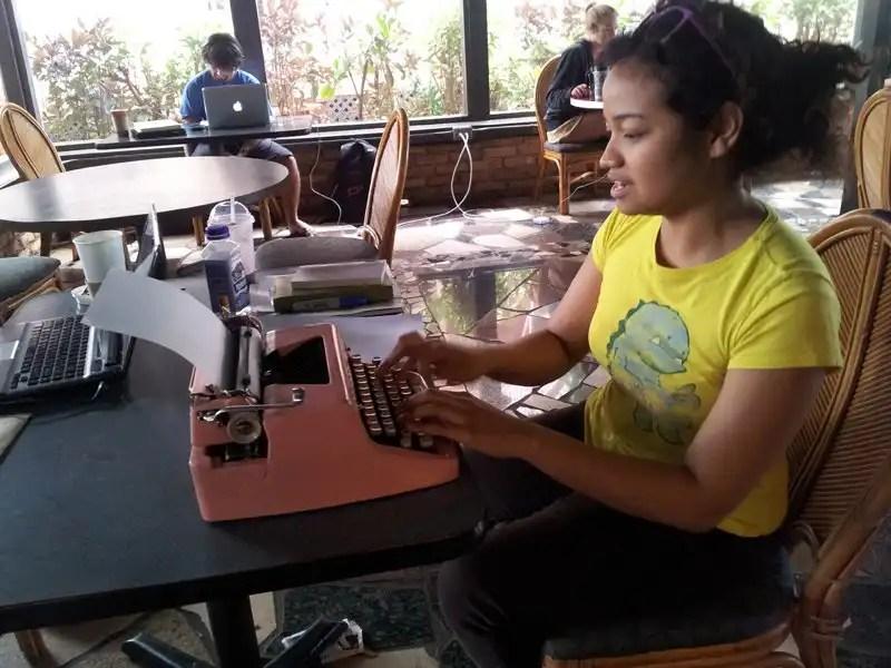 Free Poetry in Hawaii (Kauai) - Billimarie, Typewriter Poetry