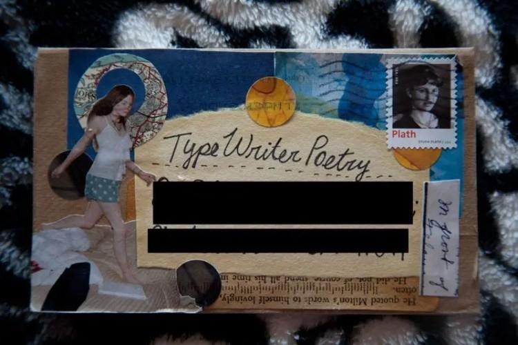 Typewriter Poetry Envelope Remi Billimarie A Peachy Keen Day