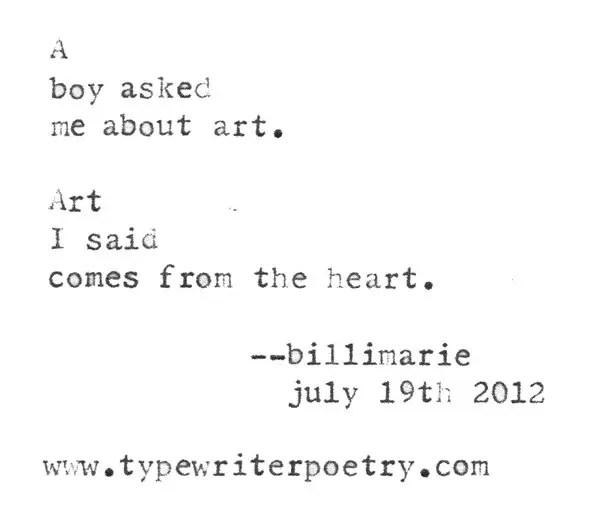 Poem about Art