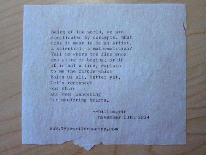 Typewriter Poetry - Free Poetry - billimarie - princeton - Mona