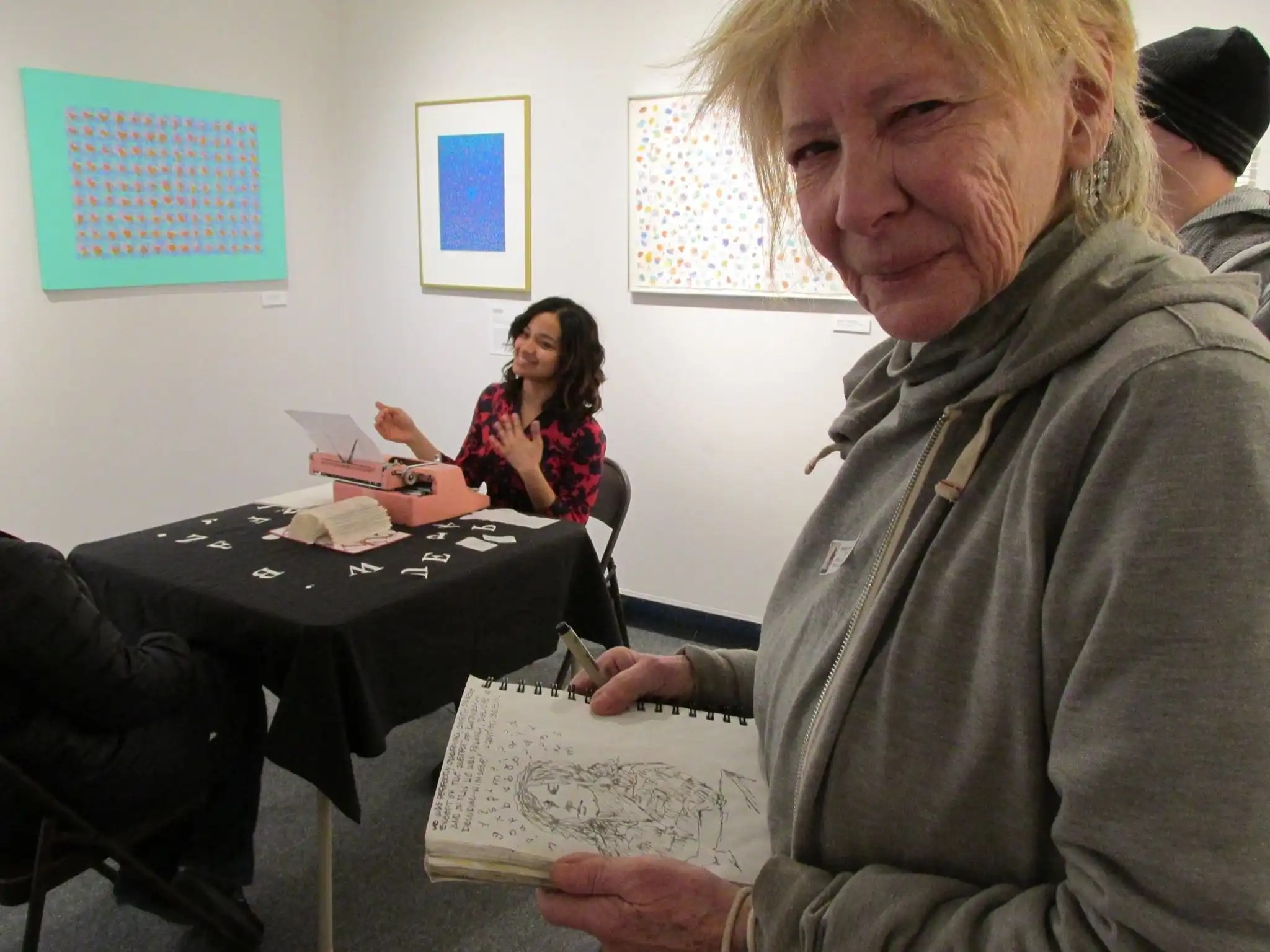 The Staten Island Museum - Betty Bressi Typewriter Love Fest - Billimarie Typewriter Poetry and Artist Florence Barry - 2015