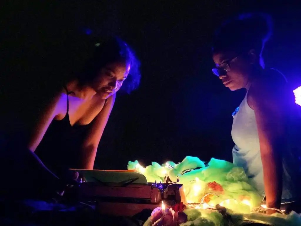"""""""Literary Creatures"""" by Billimarie Lubiano Robinson as A. Ti Nyalien with Luz - Philly Fringe Fest, 2018"""