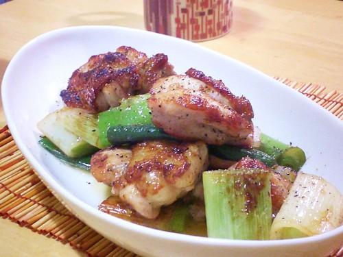 鶏肉と長ネギの塩焼き