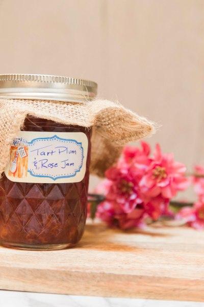Tart Plum and Rose Jam Low Sugar Jam