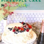 coconut pineapple 30th birthday cake