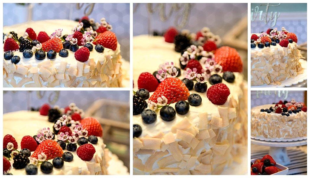 thirtieth birthday coconut pineapple pound cake