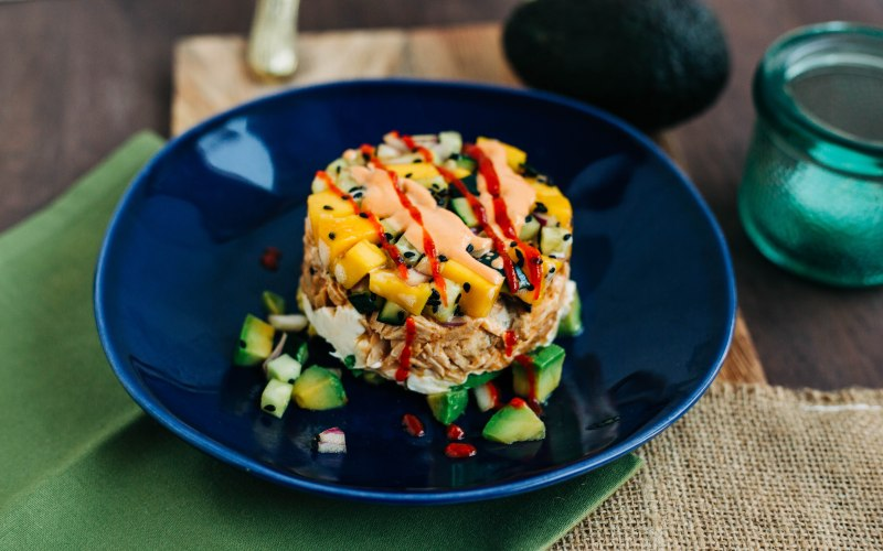 Spicy Asian Tuna Stacks | Low Carb, Keto Sushi