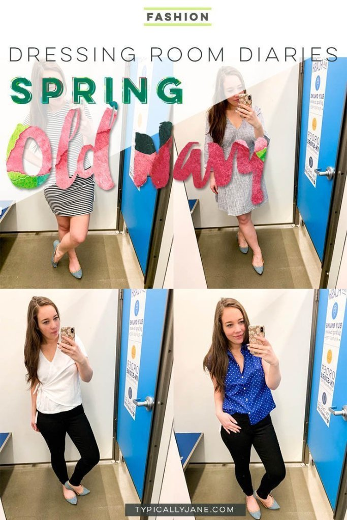 dressing room diaries old navy try on session spring outfits 2019
