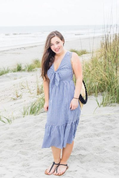 vacation outfits, florida outfits, vacation dresses, gingham tress, tie front dress, summer outfit ideas