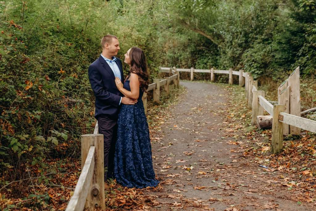 couple on nature path