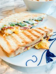 Jalapeño popper grilled cheese, Super Bowl food recipe, weeknight dinner recipe