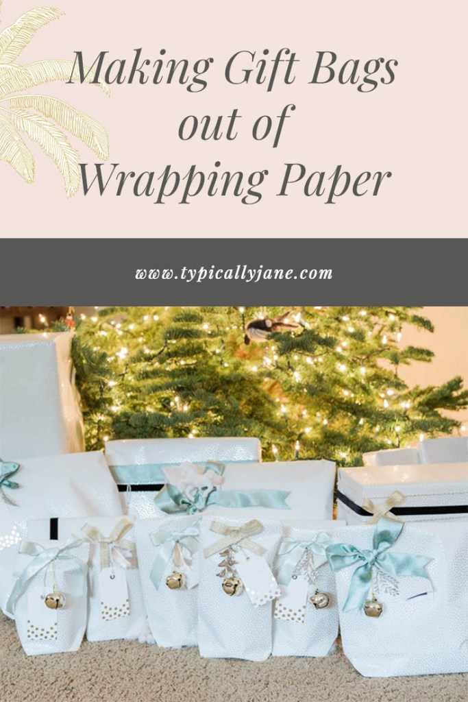make gift bags out of wrapping paper