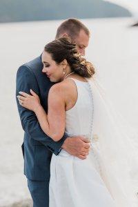 must have wedding shot list ideas, groom holding bride on beach, Pacific Northwest wedding portraits