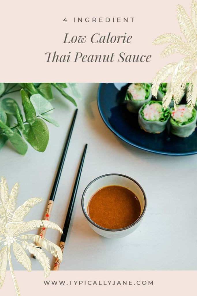 low calorie thai peanut sauce, easy 4 ingredients dipping sauce