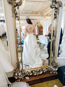 I Do Bridal Seattle Review, lace wedding dress back, wedding dress lace