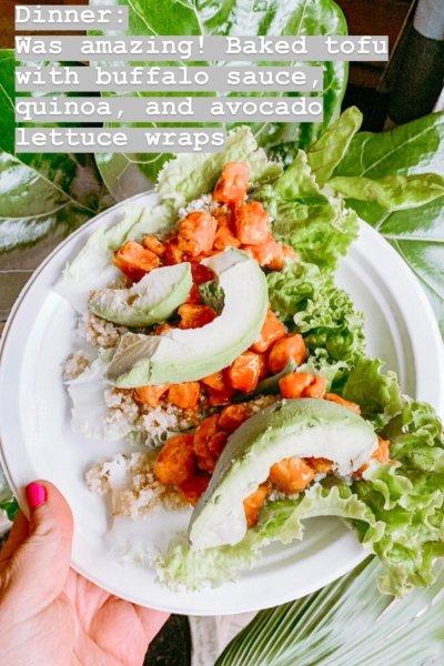 tofu buffalo avocado wrap, wedding fitness, healthy meal ideas, wedding diet