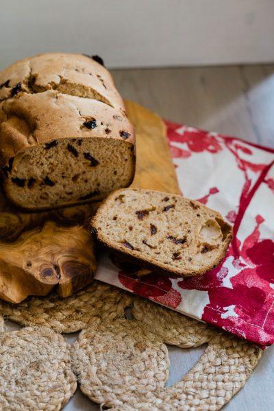 bread machine sour cherry lemon bread baking recipe