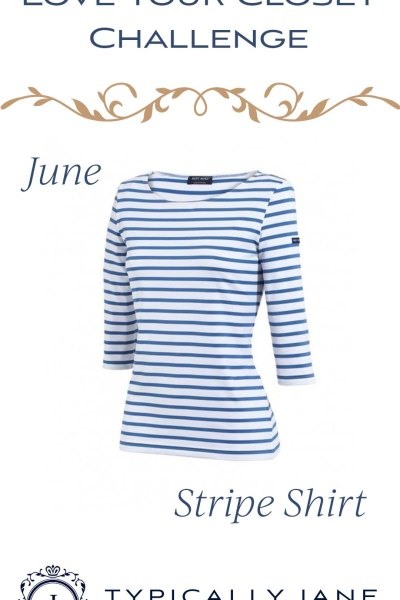 Love Your Closet Challenge June 2020 Stripe Shirt. A classic striped Breton shirt in 4 ways