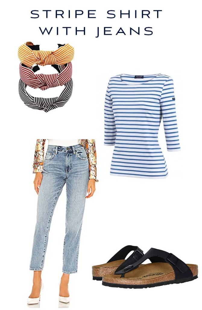 stripe shirt with jeans outfit