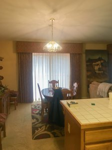 1990's tuscan themed dining room