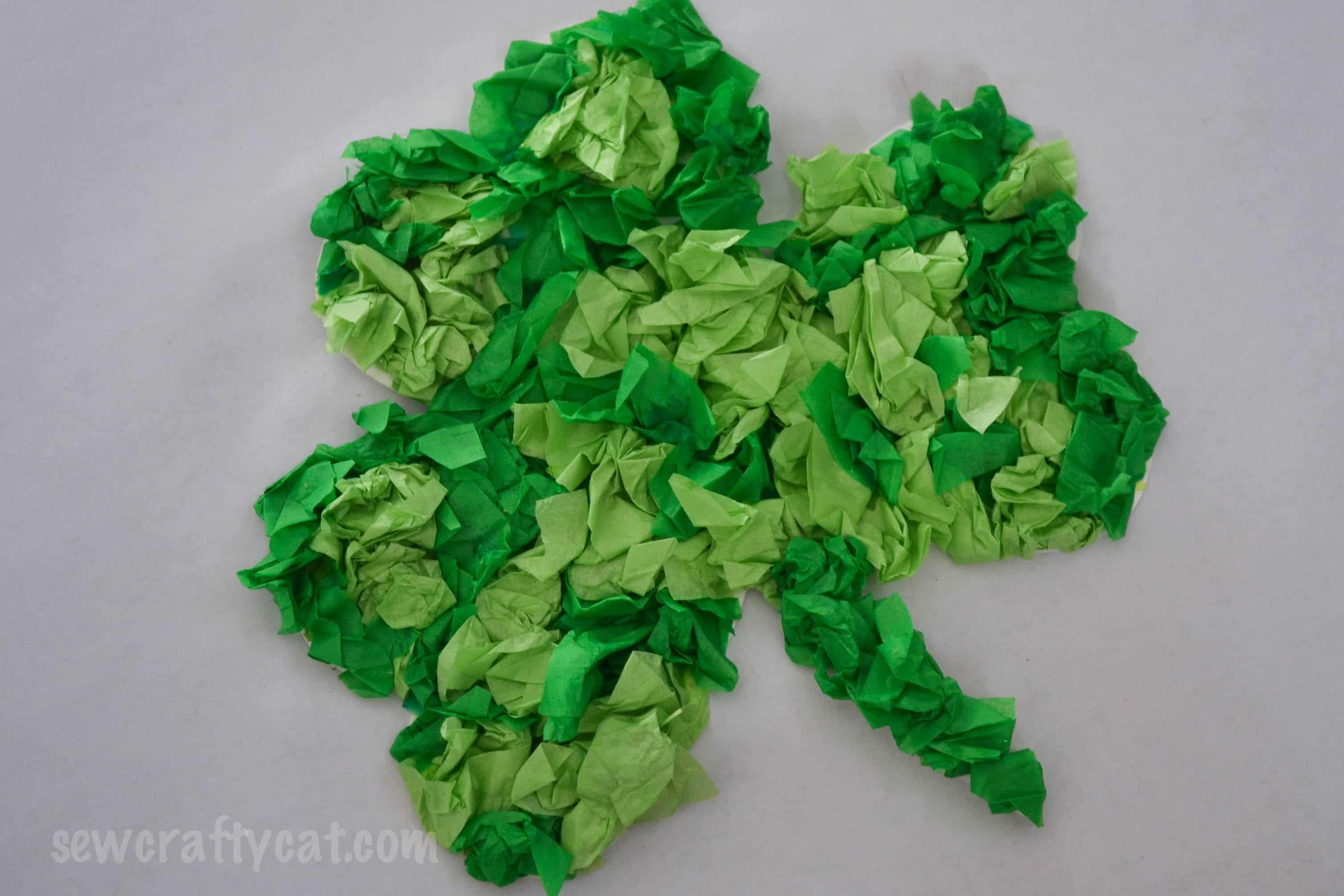 Lucky Shamrock Tissue Paper Craft
