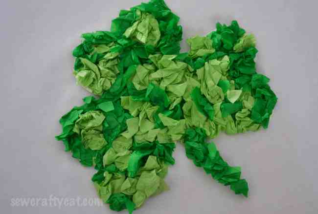 Lucky Shamrock Tissue Paper Craft