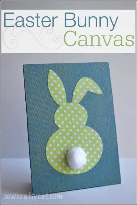 Easter Bunny Canvas - Home Decor | sewcraftycat.com