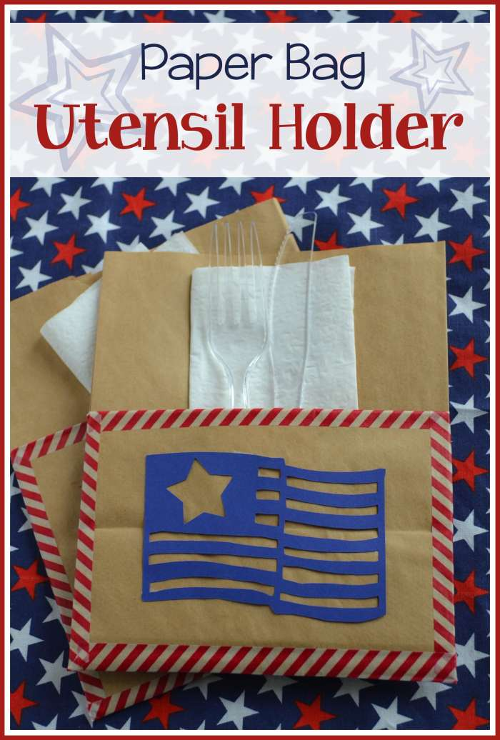 dress up a paper bag to hold napkins and utensils for picnics and BBQs