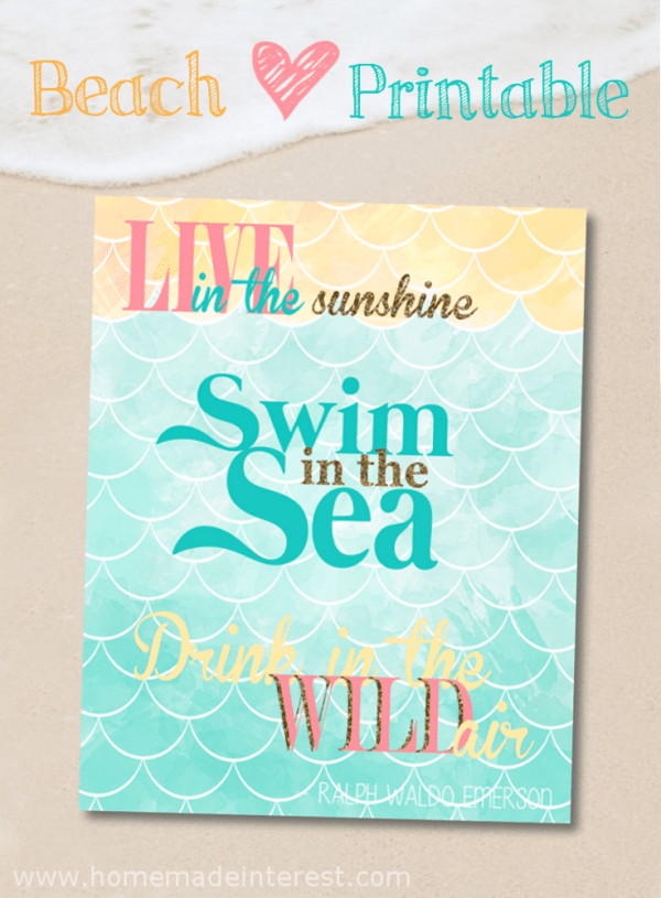 A printable for anyone who loves the beach {www.typicallysimple.com}