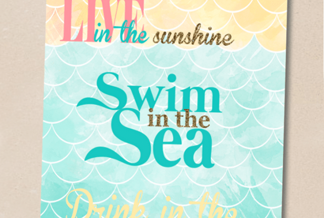 Beach {Love} Printable
