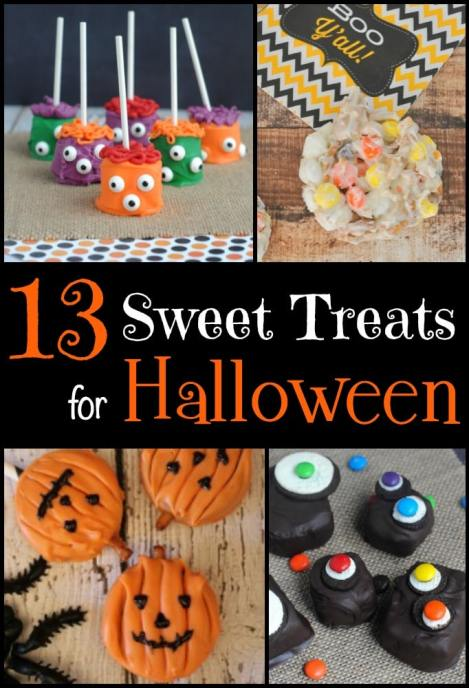 A roundup of simple sweet treat ideas for Halloween! Would be great to make for parties!