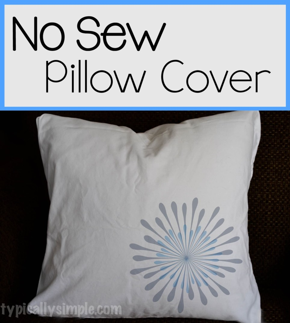 With some safety pins and a pillow case, make this no sew throw pillow cover!