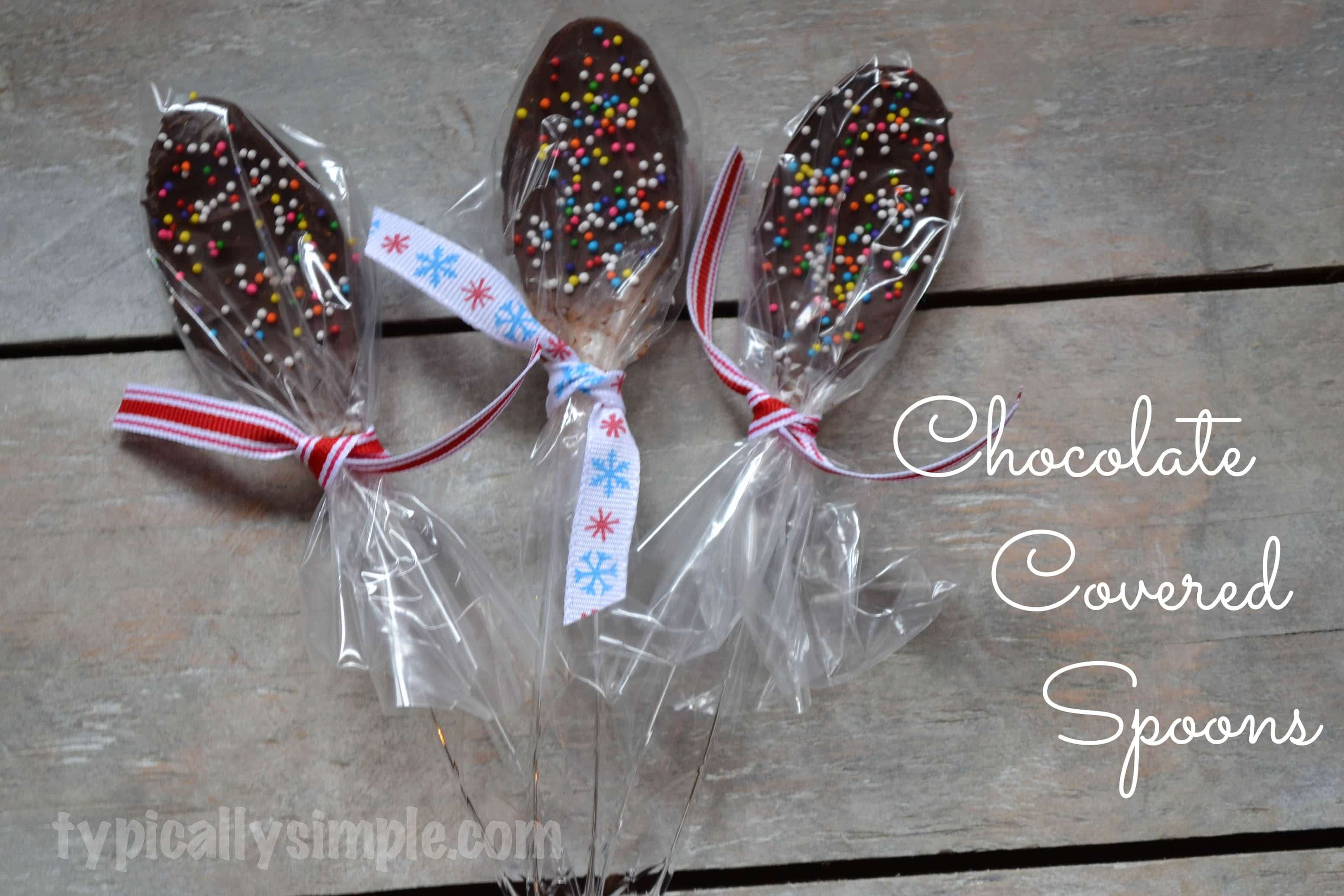 Chocolate Covered Spoons Typically Simple