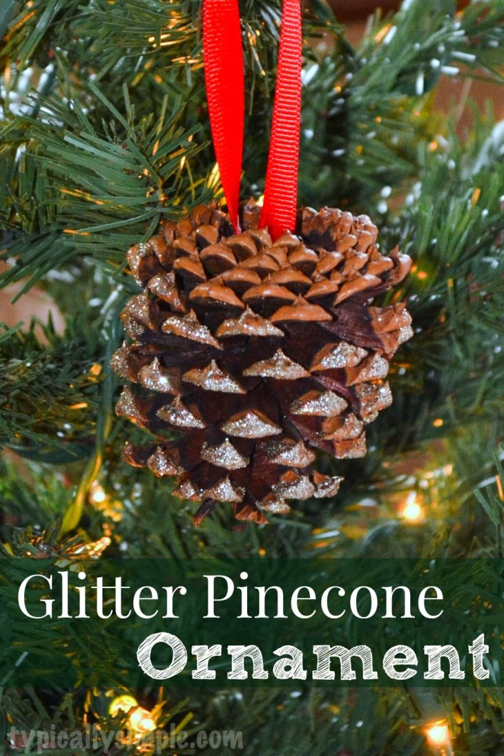 Glitter Pinecone Ornament & Trim the Tree Blog Hop