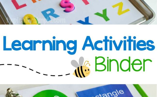 Learning Activities Binder Free Printable Typically Simple