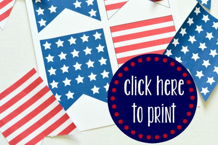 Stars and Stripes Banner Printable Click Here
