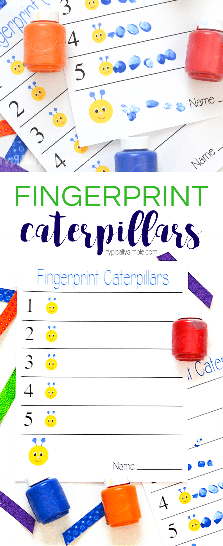 medium resolution of FINGERPRINT CATERPILLARS CRAFT - Homeschool Printables for Free